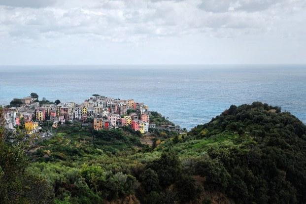 Vue de Corniglia dans les Cinque Terre