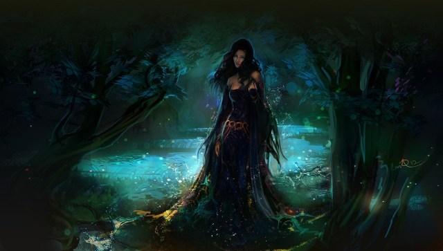 art_girl_forest_water_drops_fantasy_hd-wallpaper-403814