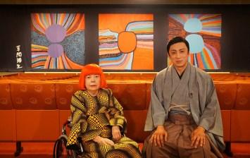 左から草間彌生、松本幸四郎 『SWITCHインタビュー 達人達(たち)』より