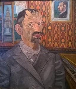 Antonio Ligabue, autoritratto, 1948-50, collezione privata