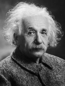 Albert Einstein in una foto del 1947