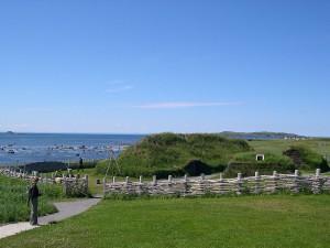 L'Anse aux Meadows, ricostruzione delle abitazioni vichinghe