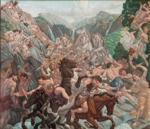 Amos Nattini, L'energia idroelettrica. La forza idrica in montagna, 1943, Collezione Cagnin
