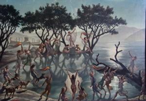 Amos Nattini, Lago di Nemi, 1940-43, collezione privata