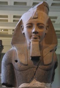 British Museum Londra, busto gigantesco di Ramses II