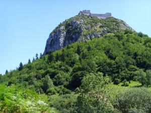 Francia, Montségur, la montagna sacra dei catari, con il castello