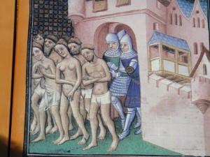 I catari espulsi da Carcassonne nel 1209 in una miniatura del XIV secolo