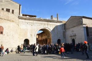 Fano, Arco di Augusto e ex-chiesa di San Michele