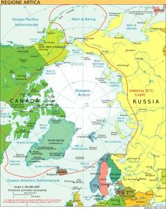Mar Glaciale Artico, mappa