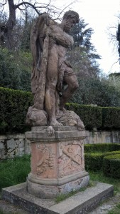 Villa Spada Bologna, giardino, statua di Ercole