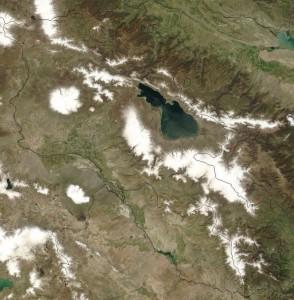 Armenia, immagine dal satellite