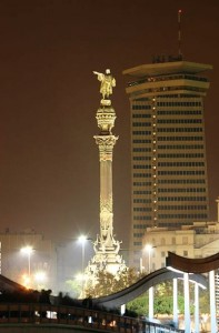 Barcellona, monumento a Colombo