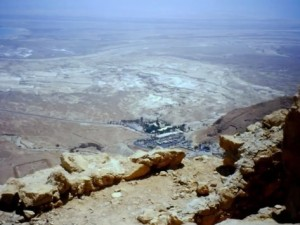 Masada, Israele, veduta dall'alto della fortezza