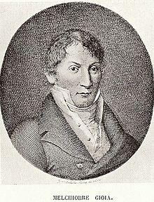 Melchiorre Gioia in un ritratto
