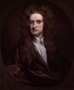 Isaac Newton, ritratto di Kneller, 1702, olio su tela