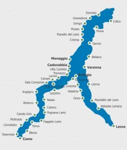 Lago di Como, mappa