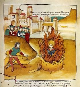 Supplizio di Jan Hus, riformista condannato al rogo