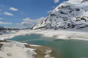 Con il Trenino del Bernina tra le montagne del Bernina ed il Lago Bianco