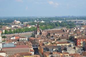Verona, una panoramica dalla Torre dei Lamberti
