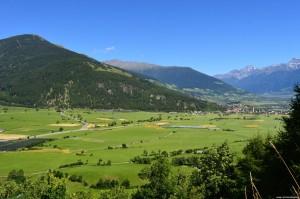 Alta Val Venosta vista da Castel Coira