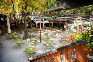 Braugarten, giardino ristorante Forst a Lagundo