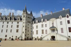 Nantes, Castello dei Duchi di Bretagna, facciata cortile interno