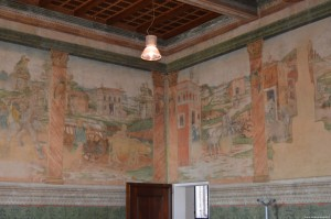 Bentivoglio, Castello, affreschi Sala del Pane