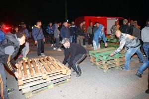 Gorino, barricate anti-migranti (Fonte foto Ansa)