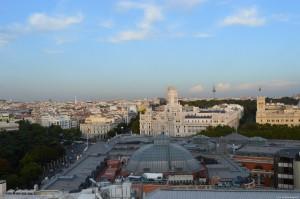 Palazzo Cibeles, panoramica dal terrazzo del Circulo de Bellas Artes