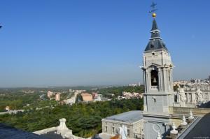Panoramica dal terrazzo della cupola della Cattedrale dell'Almudena