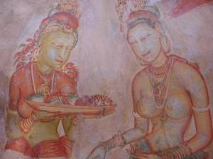 Rocca del Leone di Sigiriya, pitture murali