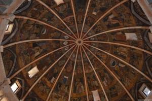 Parma, il Battistero, interno, soffitto