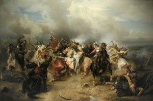 Battaglia di Lutzen, Guerra dei Trent'Anni, fase svedese, dipinto di Carl Wahlbom