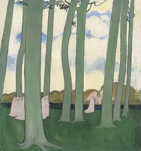 Maurice Denis, Paysage aux arbres verts, 1893, Museo d'Orsay, Parigi