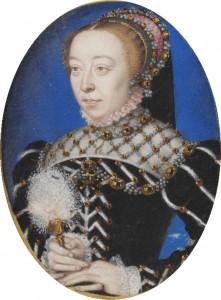 Caterina de Medici, dipinto di Clouet, 1555