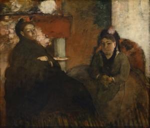 Ritratto di Madame Lisle e Madame Loubens (1866-1870) di Edgar Degas