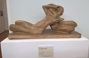 MAGI '900, Mostra Omaggio alla femminilità nella Belle Epoque, scultura Gli amanti, 1924, Enrico Mazzolani