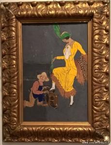 Il lustrascarpe, 1914 - 1915 ca, tempera su carta intelata, Aroldo Bonzagni