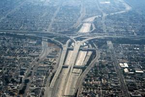 Los Angeles (USA), l'autostrada dove è stata girata la scena iniziale