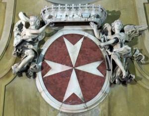 Stemma dei Cavalieri Ordine di Malta, Chiesa San Giovannino dei Cavalieri, Firenze (fonte wikipedia)