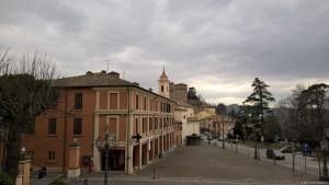 Longiano, panoramica, sullo sfondo il Castello Malatestiano