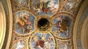 Ferrara, Castello Estense, affreschi cappella ducale
