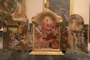 Modena, Galleria Estense, altarino portatile di El Greco