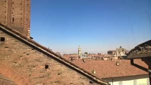 Piacenza, veduta sulla città dal Duomo durante l'ascesa alla cupola