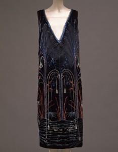 Art Déco, abito da sera, Firenze, Galleria degli Uffizi, Museo della Moda e del Costume