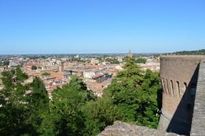 Cesena, panoramica dal camminamento della Rocca Malatestiana