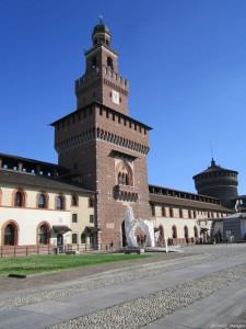 Milano, Castello Sforzesco, cortile interno