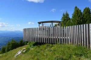 Latemar, piattaforma panoramica Latemar.360 nei pressi di Oberholz