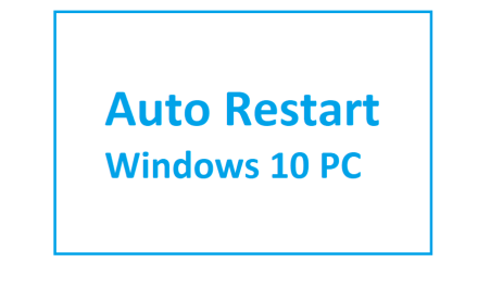 How to set up Auto Restart from Task Scheduler in Windows 10 PC