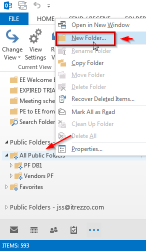 Outlook Public Folder New Folder